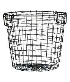 Large wire basket from H&M, perfect for putting in the living room with rolled up blankets in!