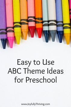 I love easy preschool ideas! There are so many included with these ABC themes! Lots of great book lists and learning activities - perfect for homeschool preschool! #homeschool #homeschoolpreschool #preschool Abc Preschool, Homeschool Preschool Curriculum, Preschool Centers, Preschool Printables, Preschool Ideas, Toddler Learning, Fun Learning, Learning Activities, Teacher Books