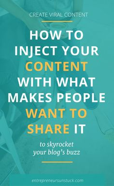 Looking for a way to get more people to share your content? Here's your recipe to turn your posts into viral content and make your audience want to come back for more! Inbound Marketing, Content Marketing Tools, Online Marketing, Marketing Opportunities, Business Marketing, Media Marketing, Make Money Blogging, Blogging Ideas, Blog Topics