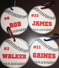 Room Mom Extraordinaire: Baseball Tags