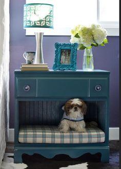 DIY pet bed night stand