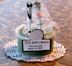 Wedding or Bridal Shower  Golf Tee Favors by JudyCootieCreations, $5.00