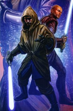 Jedi Knights Revan and Alek. Before there turn to the dark side