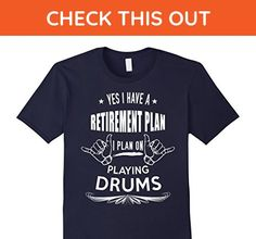 Mens Funny Retirement Tshirts: I'm Retired - Playing Drums Gifts XL Navy - Funny shirts (*Amazon Partner-Link)