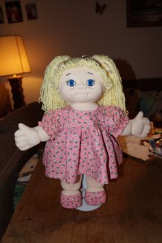 Blonde Soft Sculpture Doll
