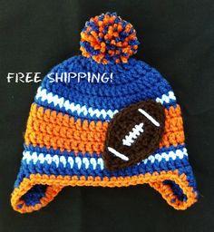 Florida Gators Football Crochet Winter Hat with Ear Flaps on Etsy, $14.00