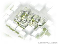 AlmenBolig+ Affordable Housing Winning Proposal / JAJA + ONV--http://www.archdaily.com/392609/almenbolig-affordable-housing-winning-proposal-jaja-onv/