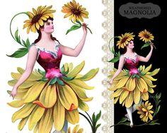Daisy French Flower Fairy Fleur Marguerite by weatheredMagnolia