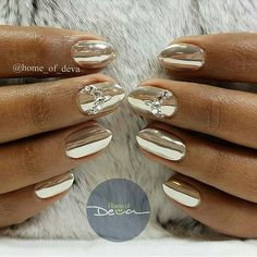 Gorgeous #MirrorNails by @home_of_deva  Get this look using our #ChromePowder… Chrome Powder, Mirror Nails, Chrome Nails, Creative Nails, Polish Girls, Hair And Nails, Manicure, Nail Designs, Skin Care