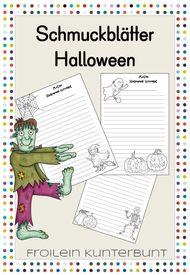 Schmuckblätter Halloween – Deutsch, Lehreralltag
