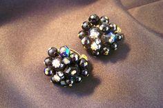 Vintage Cluster Clip on Earrings Costume by JewelsAndMyGirls3, $6.00