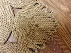 Best Way To Clean Carpet Runners Product Diy Crafts For Home Decor, Diy Arts And Crafts, Macrame Patterns, Crochet Patterns, Rope Rug, Rope Decor, Jute Crafts, Diy Carpet, Handmade Home