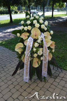 Funeral Memorial, Funeral Flowers, Table Decorations, Crowns, Flower Arrangements, Blue Prints, Grief, Dinner Table Decorations