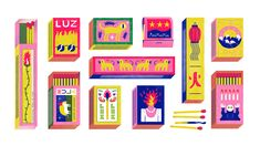 """Check out this @Behance project: """"Matchboxes"""" https://www.behance.net/gallery/65870913/Matchboxes"""