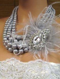 Crystal and Pearl Victorian Necklace
