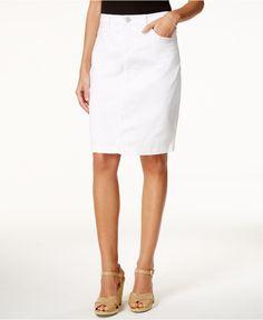 Lee Platinum Kellie Denim White Wash Pencil Skirt - Skirts - Women - Macy's