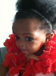 Just plain beautiful Baby Naturalista...  natural confidence already shows.