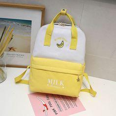 Kawaii Fruit Printing Backpack – Purses And Handbags For Teens Pastel Backpack, Backpack Bags, Kawaii Fruit, Kawaii Bags, Bags For Teens, Back Bag, Insulated Lunch Bags, Fruit Print, Waterproof Backpack