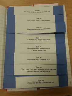 Multiplication rules