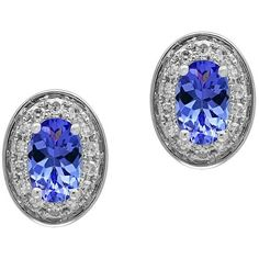 Effy Tanzanite, 0.11 TCW Diamonds and 14K White Goldplated Stud... ($422) ❤ liked on Polyvore featuring jewelry, earrings, blue, blue stud earrings, 14k diamond earrings, blue diamond jewelry, white earrings and tanzanite earrings