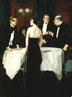 People at a Table - Clarence Underwood (1871 - 1929)