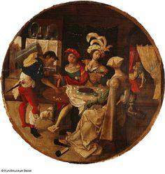 Niederländischer Meister, 16. Jh. Der verlorene Sohn beim Spiel im Freudenhaus, um 1520    The Prodigal Son in a Brothel Gambling