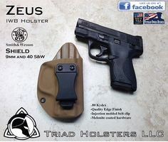 S&W M&P Shield 9mm and 40 S&W Kydex Holster - Triad Holsters LLC - Kydex Holsters