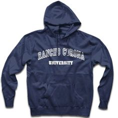 Our absolute favorite! The Rancho Corona University Hoodie! For years readers have been asking Robin if Rancho Corona University is a real college. Why? Because they all want to go there. Alas, RCU on
