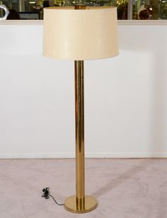 Mid Century Tubular Brass Floor Lamp by Koch & Lowy