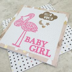 We've been creating some exciting new ranges at HexNex HQ, just check out this cute handmade greeting card to celebrate the birth of a new baby girl. And of course we have one for boys too! Only £2.99 in the HexNex Etsy shop, more designs coming soon! 😍