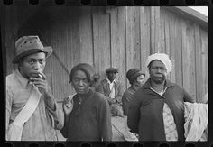 1935 Cotton pickers near Little Rock in Pulaski County Arkansas