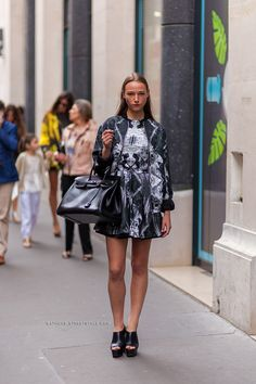 great dress. #AzuliPeeters #offduty in Paris.