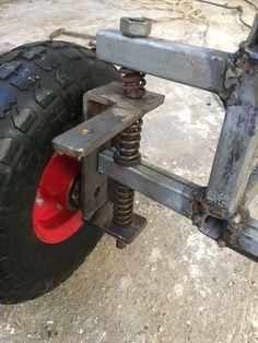 Gokart Plans 615093261589458800 - steering for a go kart,trike Source by tristandebeyworkout Drift Trike, Metal Projects, Welding Projects, Go Kart Steering, Homemade Go Kart, Go Kart Plans, Diy Go Kart, Reverse Trike, Go Car