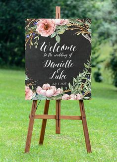 printable sign welcome by OurFriendsEclectic