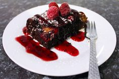 Chocolate, Raspberry, and Toblerone Brownie   Style by Joanne