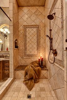 Tuscan Reflections - mediterranean - bathroom - other metro - Professional Desig. - Tuscan Reflections – mediterranean – bathroom – other metro – Professional Design Consultan - Mediterranean Bathroom, Tuscan Kitchen, Shower Tile, Tuscany Kitchen, Tuscan Decorating, Mediterranean Home Decor, Tuscan Bathroom, Beautiful Bathrooms, Tuscan Kitchen Colors