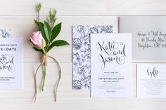 My Sweet Love Wedding invitation design by The Print Fairy  | Photo by Kate Dyer