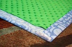 On One Hand: Easy Minky Blanket Tutorial
