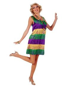 Mardi Gras Frisky Flapper Women's Costume | Wholesale Womens Flapper Costumes