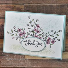 Sue Vine   MissPinksCraftSpot   Stampin' Up!® Australia Order Online 24/7  Touches of Texture   Thoughtful Branches  #stampinup…