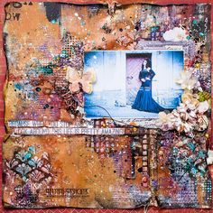 Scraps of Darkness scrapbook kits: DIY Mixed Media Layout Video Tutorial:  Tanya SonataJoy created this amazing mixed media layout, filled with texture and sparkle, with our July Tracey's Artful Adventure kit and add ons, and she did a step by step video tutorial to show you how. Find our kits here: www.scrapsofdarkness.com