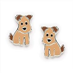 from great gifts for dog lovers ruff the dog small enamel dog earrings for girls teens or women in sterling