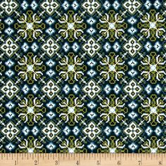Michael Miller Into The Wild Tundra Lagoon from @fabricdotcom  From Michael Miller, this nordic cotton print is perfect for quilting, apparel and home decor accents. Colors include turquoise, blue, ivory and green.