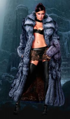 The best fur, silver fox, the best model, Adriana Lima. wow!