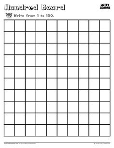 Tracing numbers 1-100 | Mathematics | Pinterest | Differentiated ...