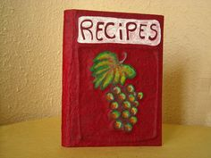 bunch of grapes recipe book handmade in italy by kucita on Etsy
