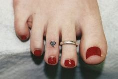 Small Heart Tattoo Foot Finger