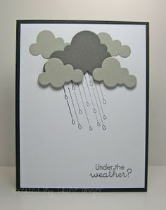 Cute idea.  Cloud punches or dies; Penny Black April Showers stamp set