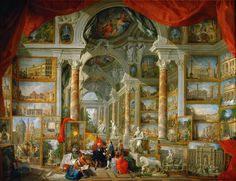Giovanni Paolo Panini - Gallery with Views of Modern Rome [1758]