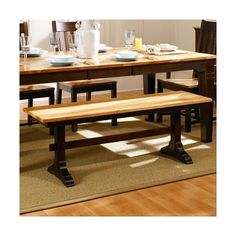 A-America Country Hickory Kitchen Bench